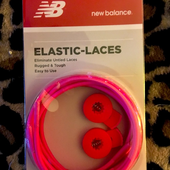Brand New New Balance Hot Pink Elastic Laces
